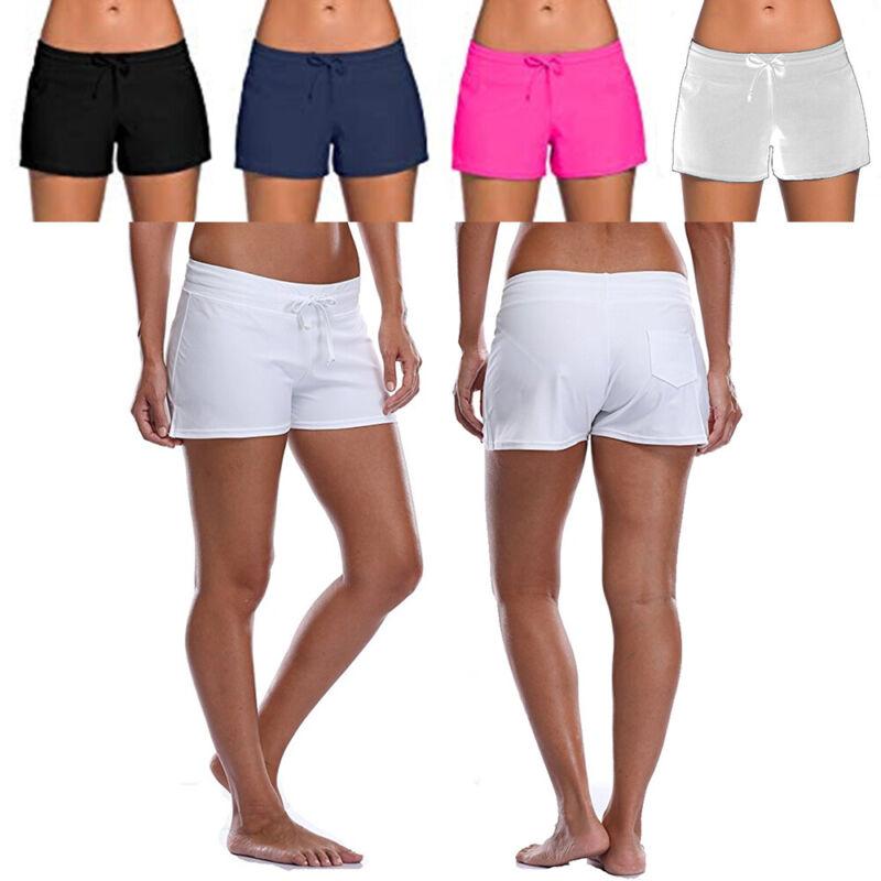 Sommer Damen Hotpants Badeshorts Badehose Kurze Hose Sport Bikinihose Schwimm
