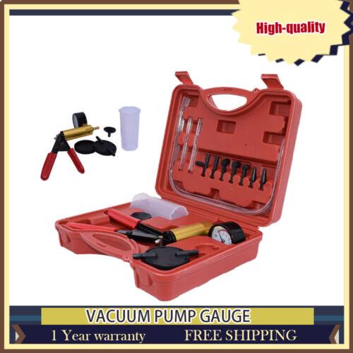 Manual Vacuum Pressure Pump Tester Set Brake Fluid Bleeder Bleeding set W/ Box