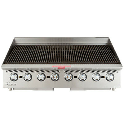Star 8036cbb 36 Countertop Gas Lava Rock Charbroiler - Replaces 8036cba