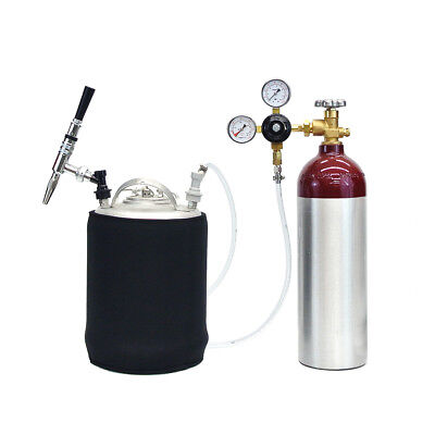 Mobile Nitrogen Keg Kit 22 Cu Ft Aluminum Tank - 2.5 Gallon Keg - Free Shipping