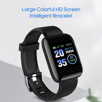 SMARTWATCH OROLOGIO 116PLUS SMART BAND FITNESS TRACKER CARDIOFREQUENZIMETRO NERO