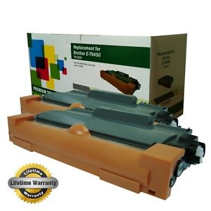 2PK Brother TN450 HL-2230 HL2240 HL2240D HL2270DW HL2280DW Compatible Toner