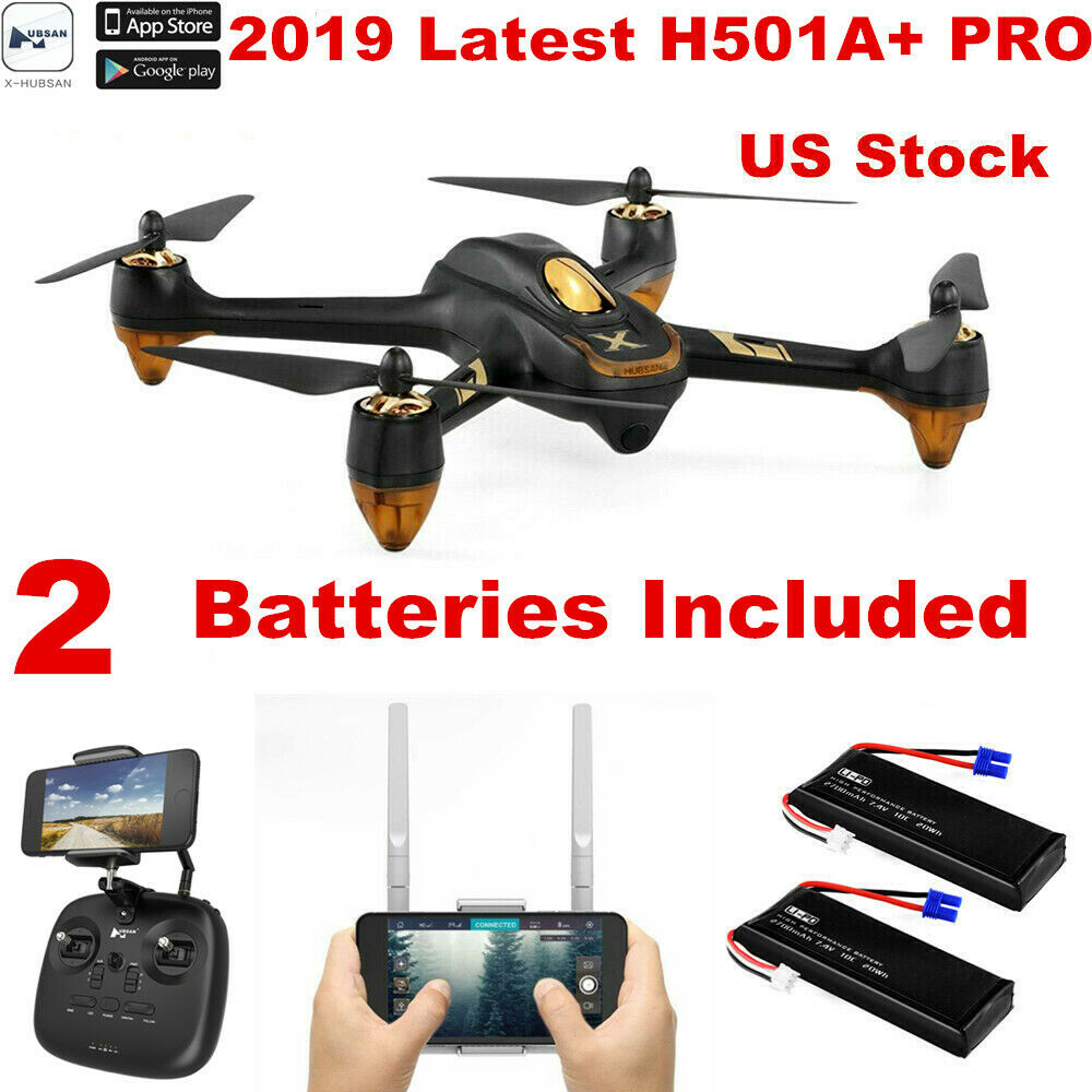 Hubsan H501A+ APP FPV Drone 1080P Quadcopter Brushless GPS+2Battery,Pro Edition