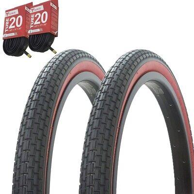 Fit FAF OEM 20x2.40 Tire Brown w// Black Sidewall BMX 60psi