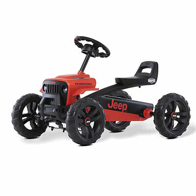 BERG Toys Jeep Buzzy Rubicon Pedal Go-Kart for Kids Ride On Toy, Red (For Parts)
