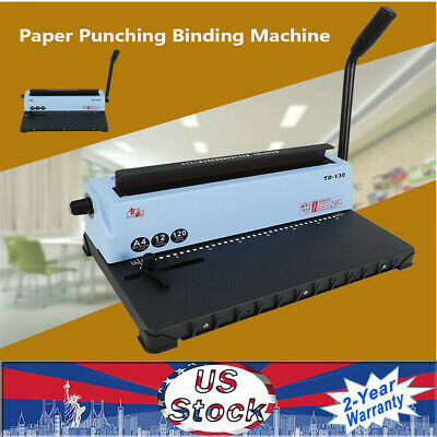New Spiral Coil Calendar 34 Square Hole Punching Binding Machine Ups