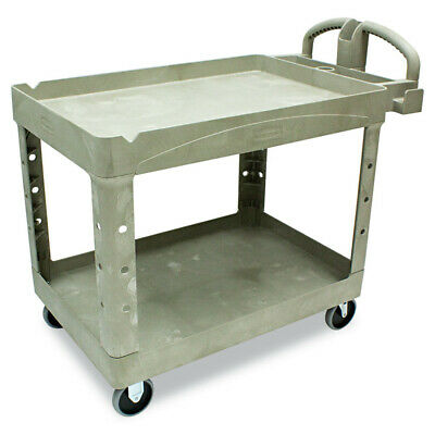 Rubbermaid Commercial Fg452088beig Heavy-duty Utility Cart 2-shelf Beige New