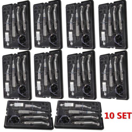 10 set Dental 4 Hole High low Speed Handpiece Turbine Kit Fit NSK