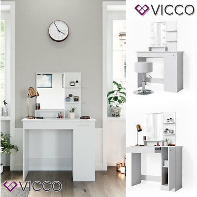 VICCO Schminktisch JULIA Weiß Frisiertisch Kommode Frisierkommode Spiegel