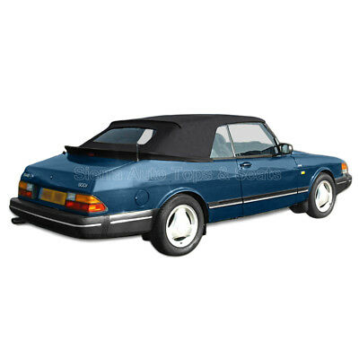 Saab 900 Convertible Top 1986-94 in Black German Cloth, Glass Window for sale  Shipping to Canada