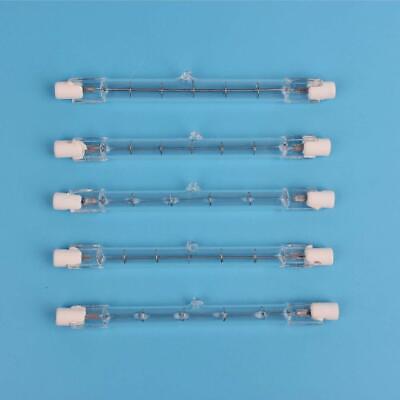 Ended J-type Halogen Light Bulb (5 Bulbs Halogen J Type 300W 300 Watt T3 120V R7S 118MM Double Ended)