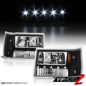 [SO COOL] 1993-1998 Jeep Grand Cherokee ZJ Black LED DRL System Headlights L+R