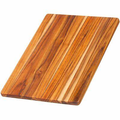 Teak Board - Teak Cutting Board - Rectangle Chopping And Serving Board (15.75 x 11 x .55...