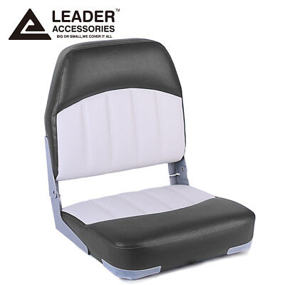 Leader Accessories New Fishing Folding Boat Seat (Charcoal/Grey)