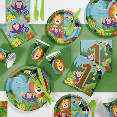 Jungle Safari 1st Birthday Party Supplies Kit (Jungle Parties)