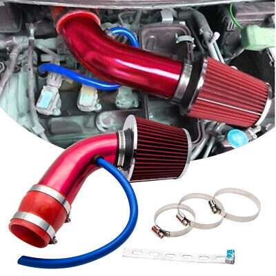 Universal Induction Hose Pipe Kit System Filter Red Cold Air Intake  2.5