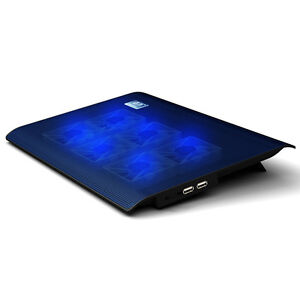 Slim L112B Portable 6 Fans Notebook Cooling Pad Cooler Mat For 15.4