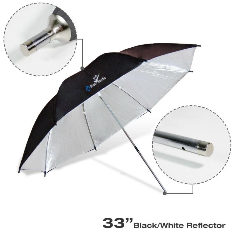 "33"" Photography Reflector Black/Silver Photo Studio Lighting Soft Flash Umbrella"
