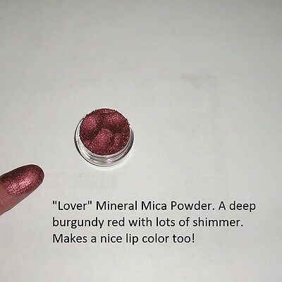 """Lover"" Mineral Mica Powder Eye Shadow ~ Deep burgundy red ~"