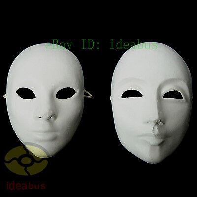 DIY Unpainted Venetian White Blank Masquerade Paper Pulp MALE & FEMALE Mask