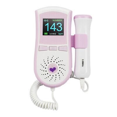 Fetal Doppler Ultrasonic Baby Heartbeat Detector Monitor Pocket Doppler Monitor
