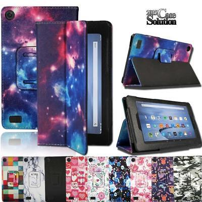 Leather Stand - Leather Stand Cover Case For Amazon Fire 7