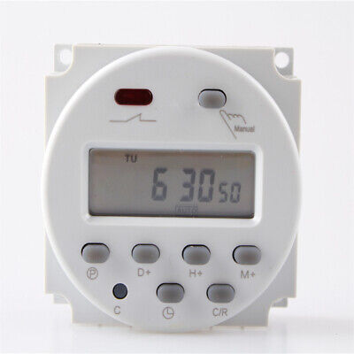 1PCS LCD Digital Power Programmable Electronic Timer Switch Socket Relay DC 12V