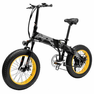 LANKELEISI X2000 Plus Bicicleta eléctrica plegable 48V 10.4AH 500W 20x4.0 pulgad
