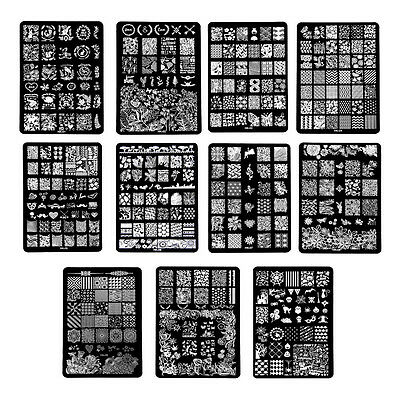 1PC DIY Nail Art Image Stamp Stamping Polish Print Plates Manicure Template Tool (Image Printer)