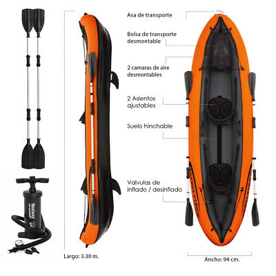Bestway Hydro-Force Ventura Kayak Hinchable - Naranja (65052)