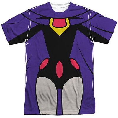 TEEN TITANS GO RAVEN COSTUME Front Print Halloween Adult Men's Tee Shirt - Raven Teen Titans Halloween Costume