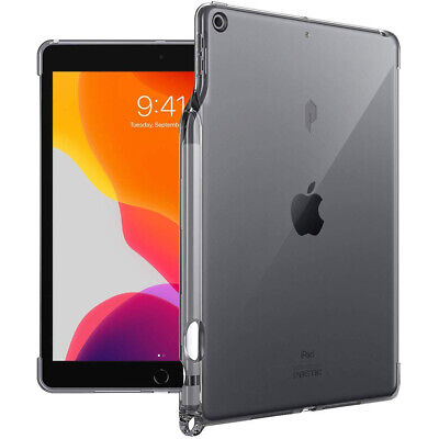iPad 10.2 2019 Tablet Case,Poetic Ultra thin TPU Cover w/Pencil Holder Gray for sale  Shipping to India