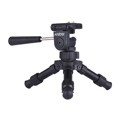 Andoer Portable Table top mini Tripod& Pan Head Universal For DSLR Camera F8D7