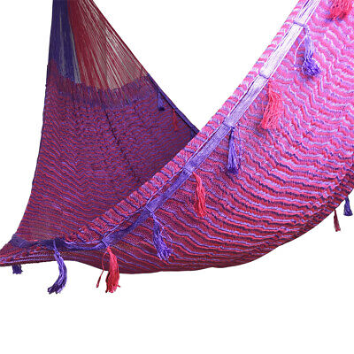 Double Mayan Hammock Hamacas Mexican Family Xl Large Hand Woven Jumbo 2 Person