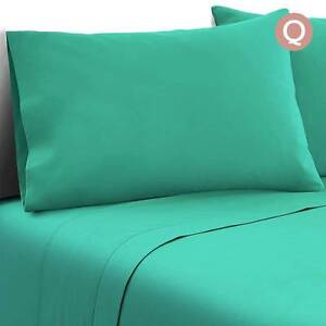 Free Delivery: 4 Piece Microfibre Sheet Set Queen– Aqua Homebush Strathfield Area Preview