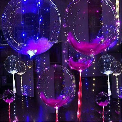 Party Decor Glow In The Dark Transparent Luminous Bobo Light Balloon LED (Glow In The Dark Party Decor)