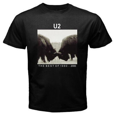 New U2 The Best of 1990–2000 Album Cover Men's Black T-Shirt Size S to