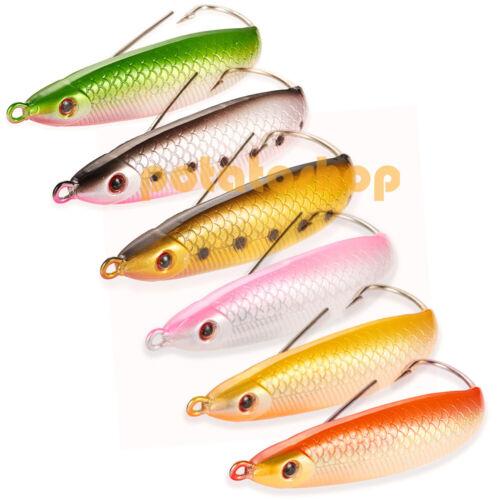 1pcs Spoon Minnow 9cm Weedless Freshwater Surf fishing Rattler BKK Hook redfish