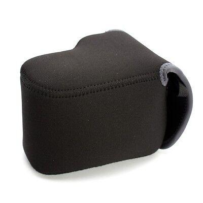 Pentax Fuji Lumix NEOPRENE CAMERA Protector slr Body/55mm Lens Case Cover Medium - Medium Slr Lens Case