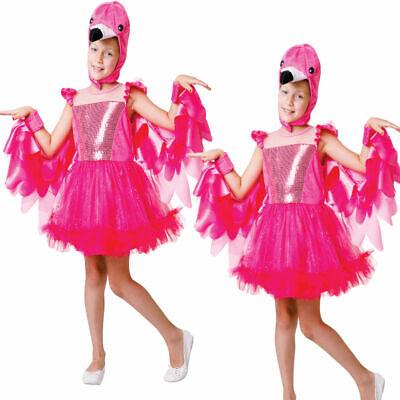 Mädchen Flamingo Tütü Kostüm Mädchen Vogel Buch Tag Süß Kostüm Outfit Kinder