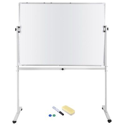 """48""""x36"""" Magnetic Writing Whiteboard Double Side Dry Erase w/ Adjust Mobile Stand"""