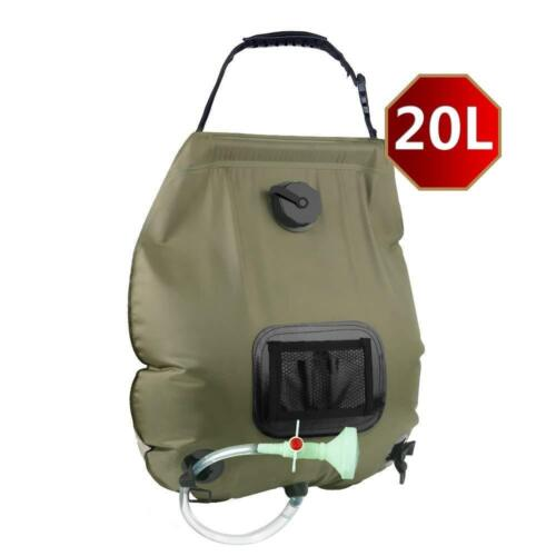 Portable 20L Solar Self Heating Camping Shower Bag Water Heated Camping Pipe