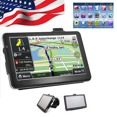 Usa 7  Hd Touch Screen Car Truck Gps Navigation Navigator Sat Nav Lifetime Maps