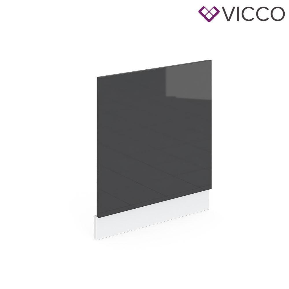 VICCO Küchenschrank Hängeschrank Unterschrank Küchenzeile R-Line Geschirrspülerblende 60 cm anthrazit