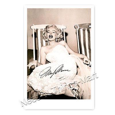 Marilyn Monroe - Autogrammfotokarte laminiert [AK1]