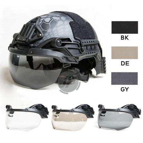 Tactical Helmet Visor Goggle 3mm Thicken Anti-Fog Lens Flip Up For Fast Helmet