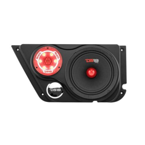 DS18 JK-FD-LR Front Door Left Right Refit Kit Jeep 6.5 Component Speaker Tweeter