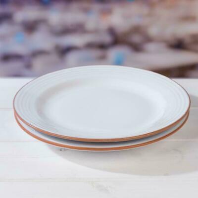 Jamie Oliver Get Inspired Set of 2 28cm Terracotta Ceramic White Dinner Plates