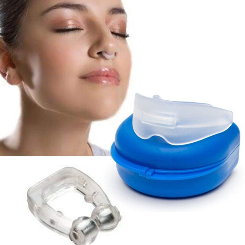 Snores Stopper-Nose Clip Vents Device, Anti Snore Mouthpiece 2PCS in 1 Kit