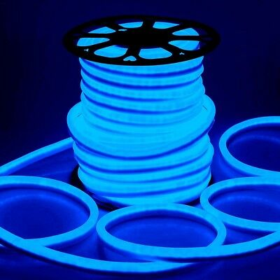 Blue Led Tube (DELight® 150' FT Blue LED Neon Rope Light Flex Tube Sign In/Outdoor)